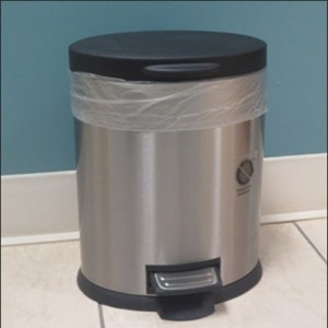 Rubbermaid Molded Plastic Garbage Trash Can Small Bathroom Wastebasket 7 Gal