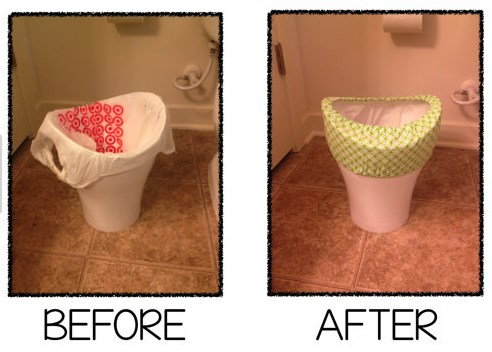 bathroom wastebasket. Trash can covers 5 Common Objections to Using Small Bags Plastic Place Blog
