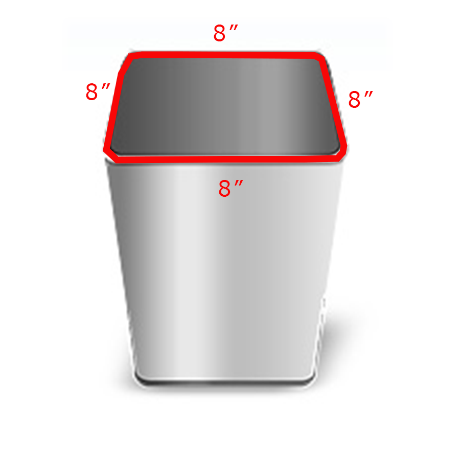Square Can With Perimeter
