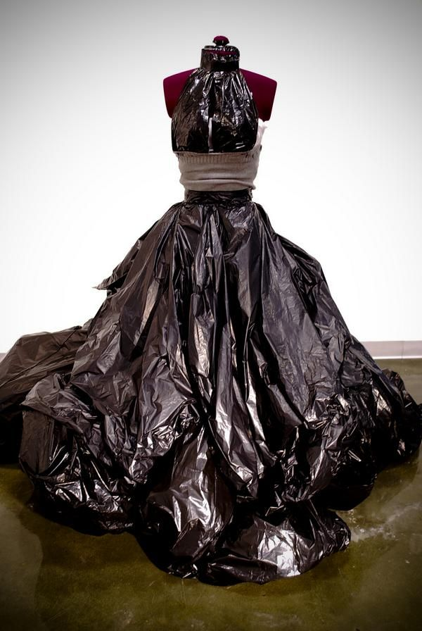 Trash Bag Dress Gown Fashionable