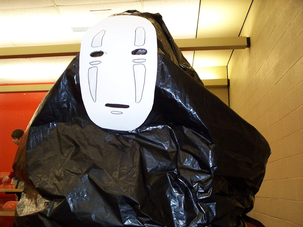 Garbage Bag Kaonashi Costume