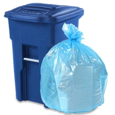 Toter 48 Gal Trash Cans Gallon Can Glutton Brown Bin Bags